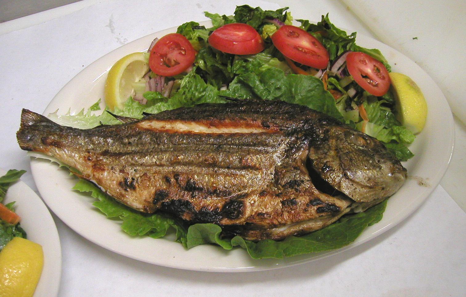 pişmiş balık fotoları